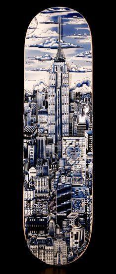 artwork-manhattan-blue-skateboard-fazzino-234x550