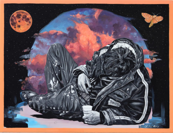 Prism, Sleeper series, 60x45cm, oil on paper, 2019 1